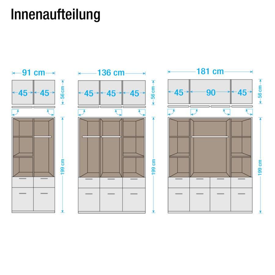 Bochum Alpinweiß 181 Cm4 milchglasSchrankbreite türig Drehtürenkombischrank hQCxtsrd