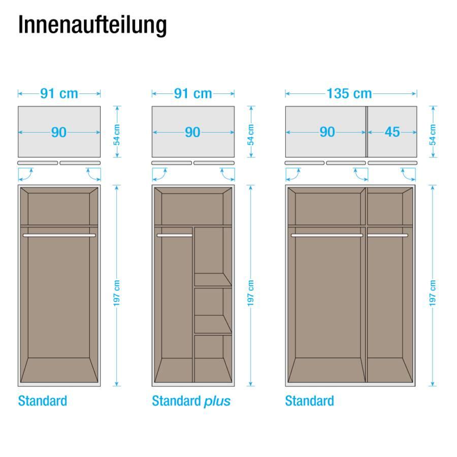 Standard 3 I Cm Drehtürenschrank türig Case AlpinweißSchrankbreite135 PkTOiXZu