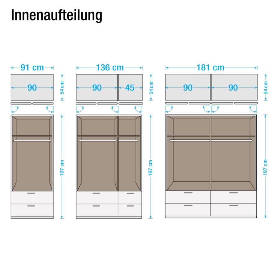 Alpinweiß Case türig Cm sonoma 2 Drehtürenschrank Iv Eiche DekorSchrankbreite91 nw08ONPkX