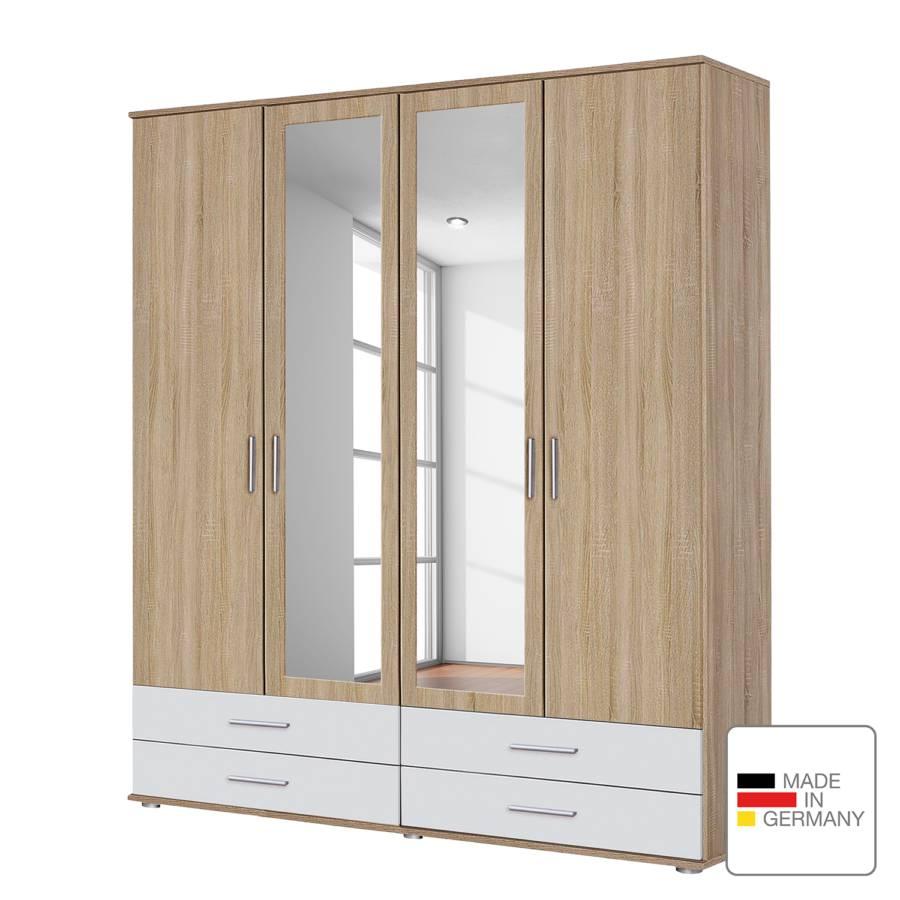 Eiche Drehtürenschrank Cm Spiegeltüren DekorAlpinweiß168 Sonoma Mit extra I Rasant N8wmn0