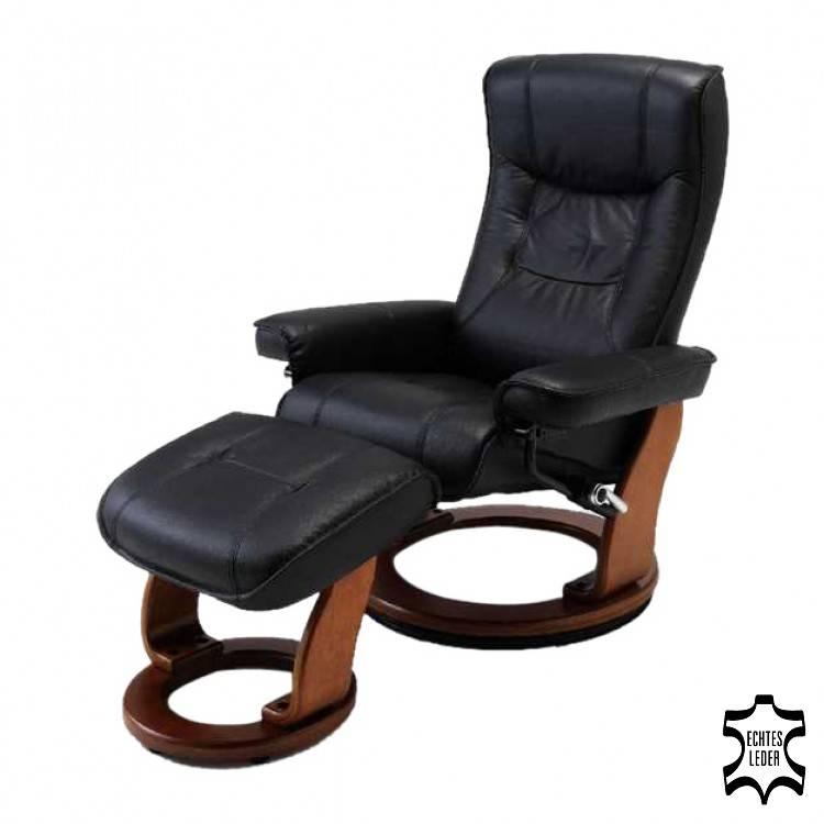 Fauteuil relaxation Odenwald cuir noir