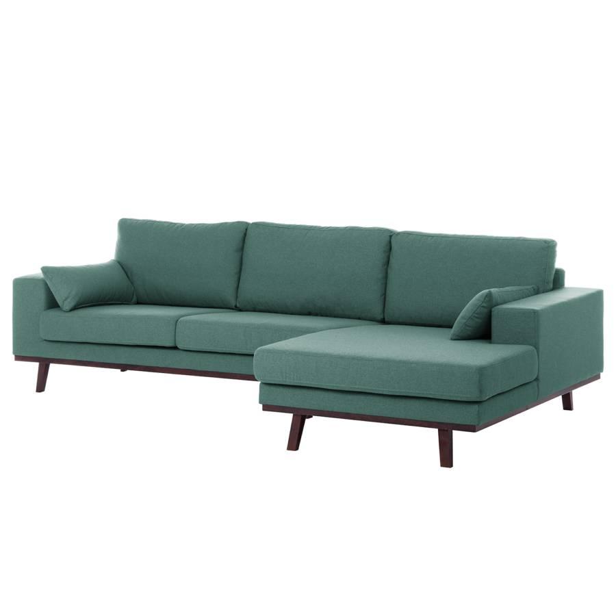 ecksofa billund i webstoff longchair davorstehend rechts petrolgrau - Inspirierend Wohnzimmer Sofa Aufbau