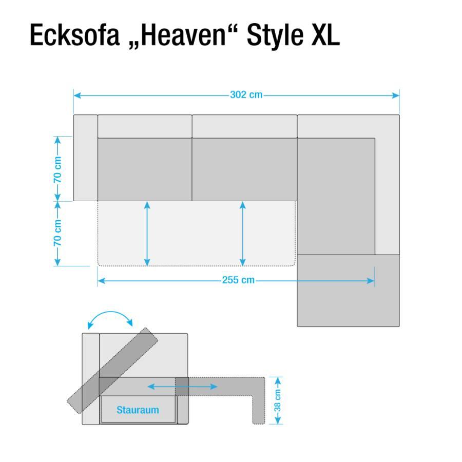 Xl Stoff Style Longchair RechtsKeine Davorstehend Ecksofa Grey Colors Funktion Light Tcu9 Webstoff Heaven PiOkTZuX