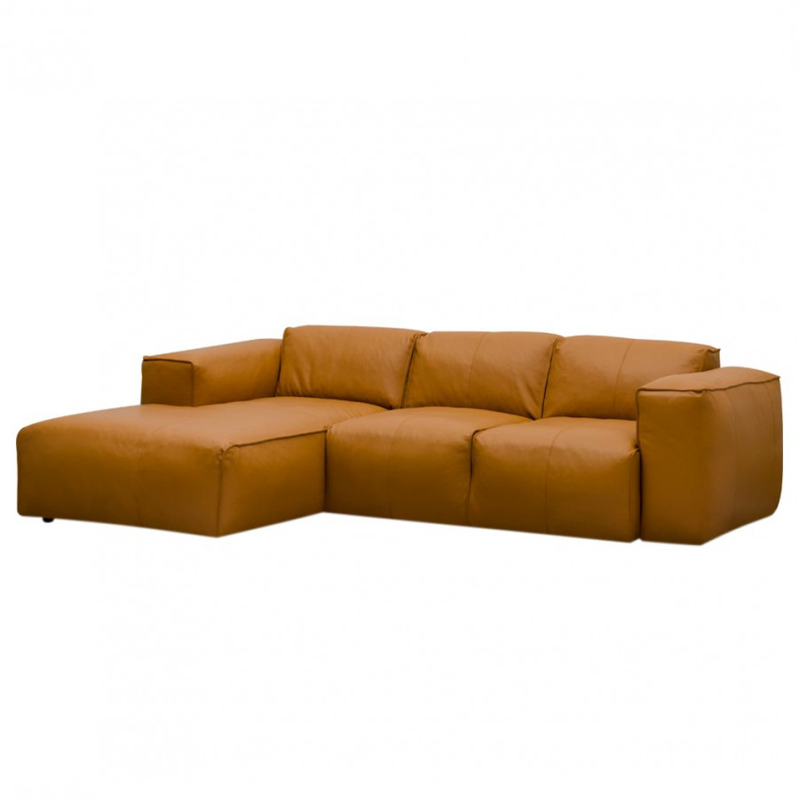 Ecksofa Hudson Iii Echtleder Fashion For Home