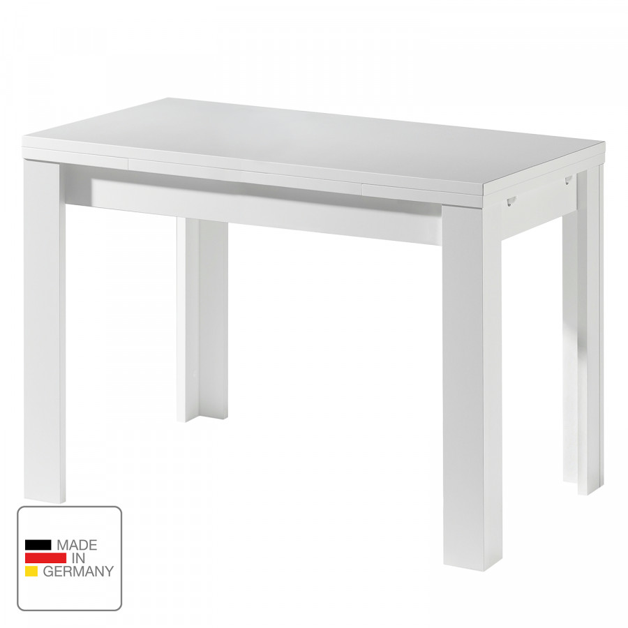 Weiß110 60 X Leafmit AusziehfunktionMatt Esstisch Cm hxBoCdtsQr