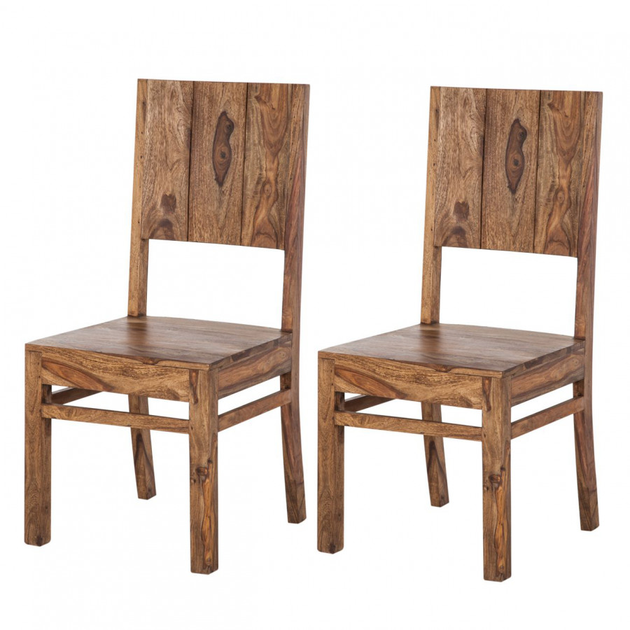 Sedia da sala pranzo Ohio (set 2) - Legno massello di Sheesham ...