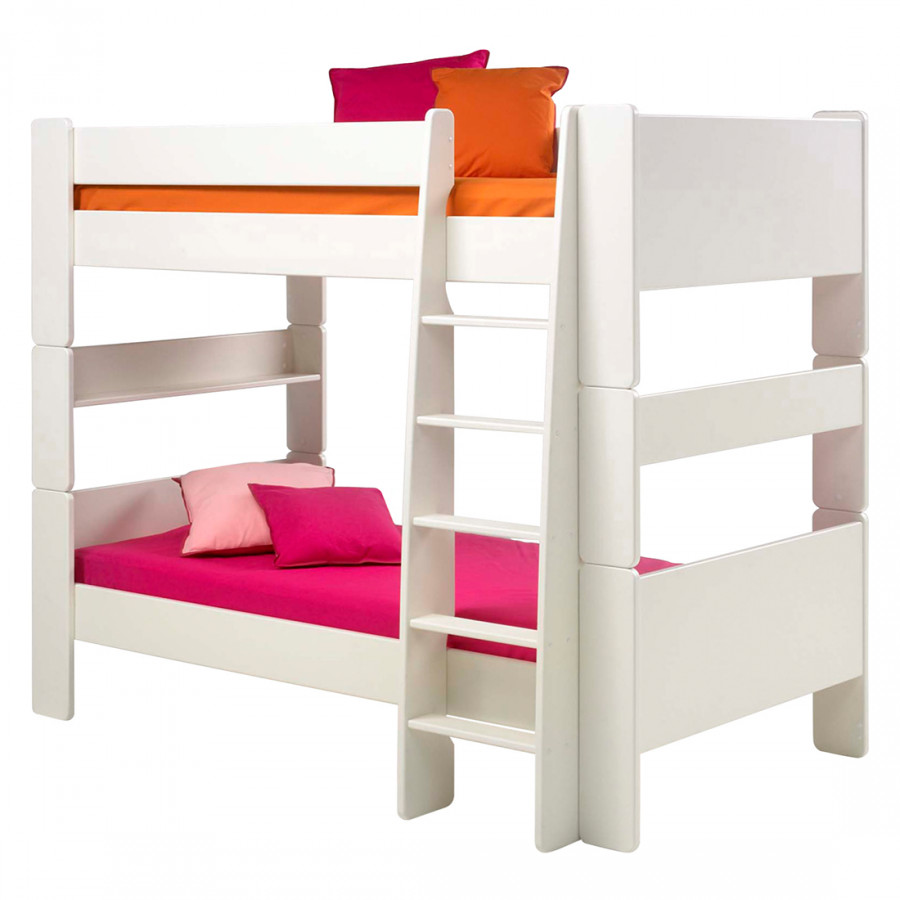 Wit Houten Stapelbed.Stapelbed Steens For Kids