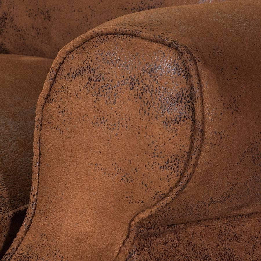 BraunStoff Antiklederoptik Naru Bena Ohrensessel 43Rj5AL
