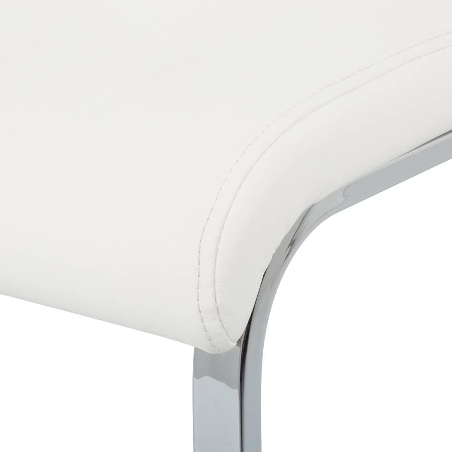 Blanc Nevialot Chaises Cantilever 2Imitation De Cuir b7gYy6f