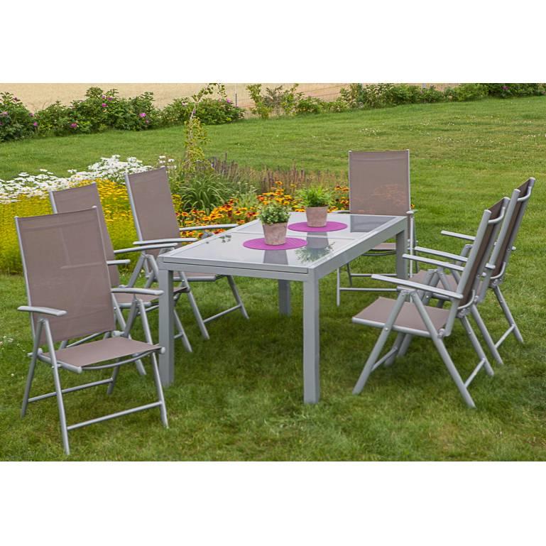 Gartenessgruppe Amalfi XII (7-teilig) - Aluminium | home24