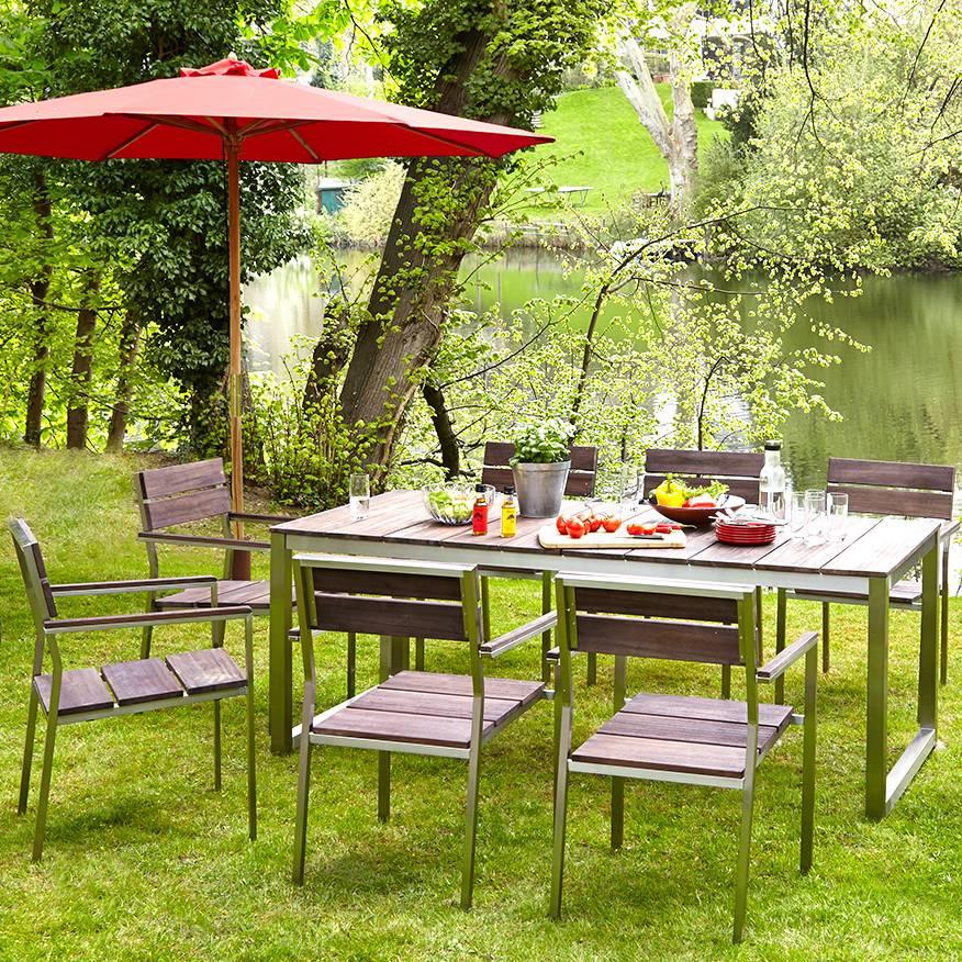 Jardin MassifAcier Inoxydable Ii Lot De Chaise 2Teck Teakline Premium 67vbgYfy