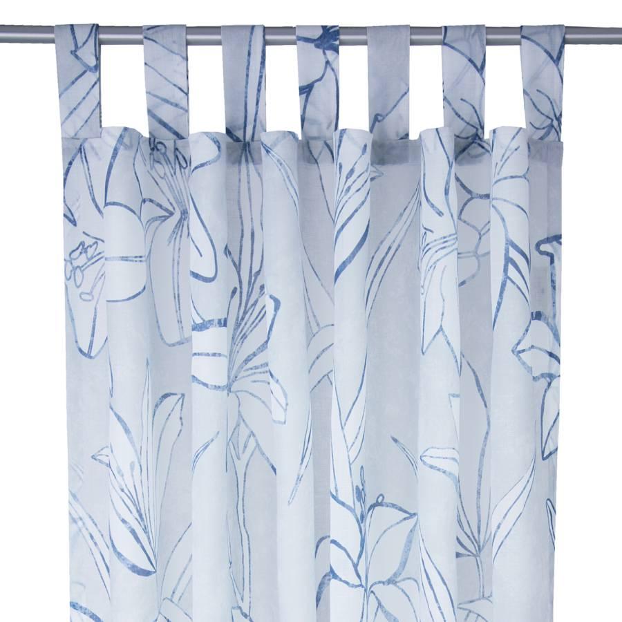 blue Flowers T Schlaufenschal Schlaufenschal WebstoffHellblauWeiß NkO08wnPX
