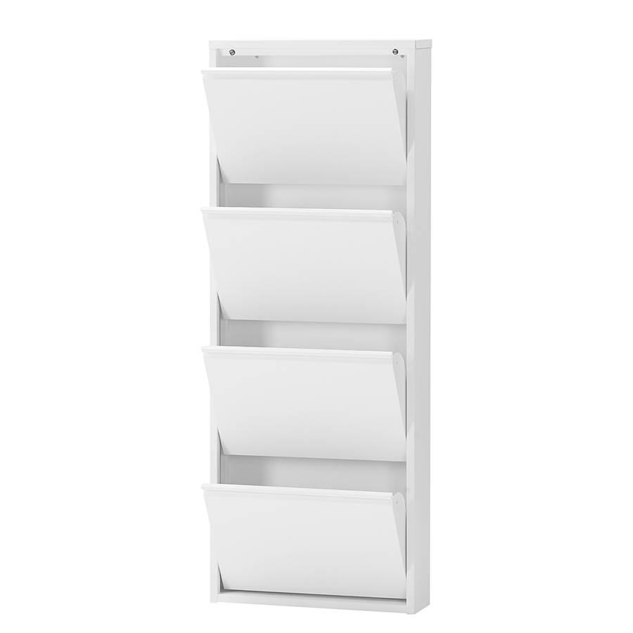AuBergewohnlich Schuhschrank Cabinet   Weiß   4 Klappen   Höhe 140 Cm