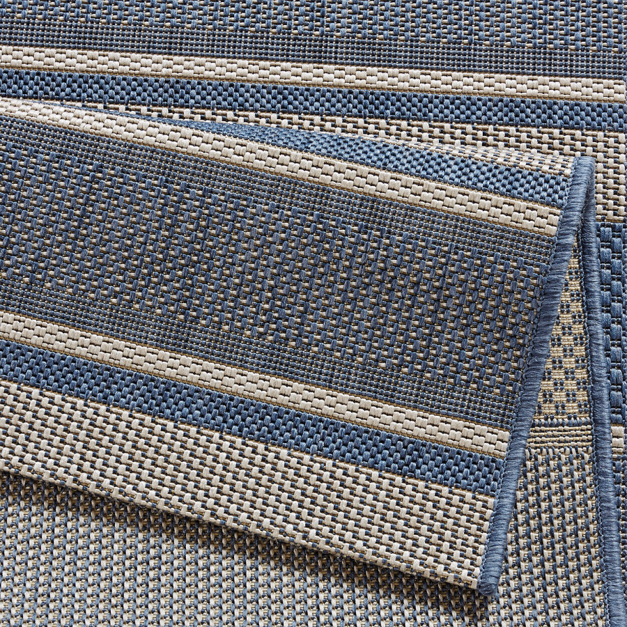 Strap Cm CremeMarineblau80 150 Inoutdoor X teppich WHeEYD2I9