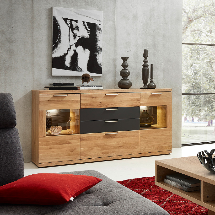 Macoun InklBeleuchtungWildeiche Sideboard InklBeleuchtungWildeiche Macoun Sideboard Teilmassiv srCtQdh