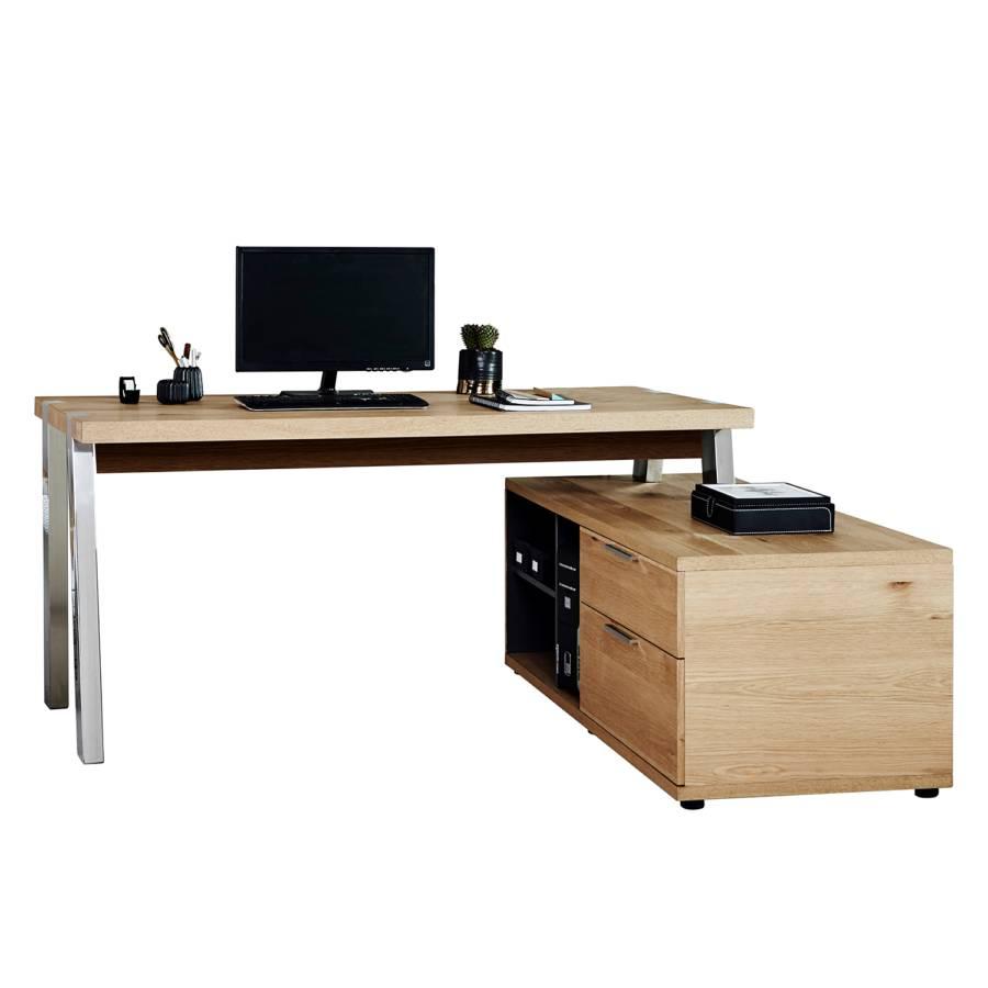 Eckschreibtisch 165 165 Eckschreibtisch Desk Desk Desk Solid Solid Solid WildeicheChrom Eckschreibtisch WildeicheChrom J3clFK1T