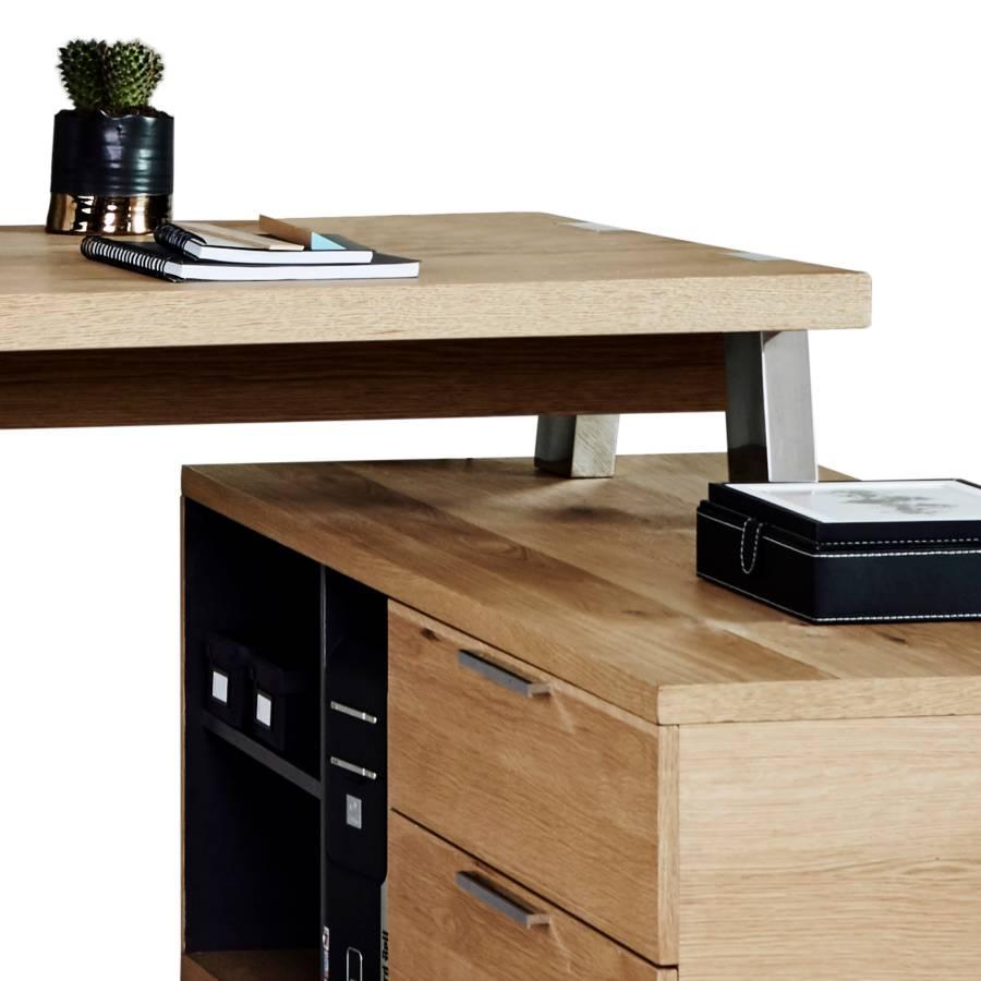 Solid 165 165 WildeicheChrom Desk Desk Solid Eckschreibtisch Eckschreibtisch Eckschreibtisch WildeicheChrom IH9WED2Y