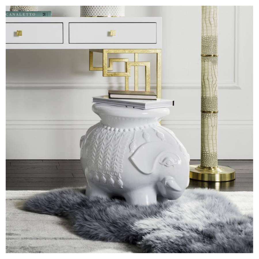 Keramikhocker Elefanten Keramikhocker Weiß Elefanten Elefanten Keramikhocker Weiß uTlc3FKJ15