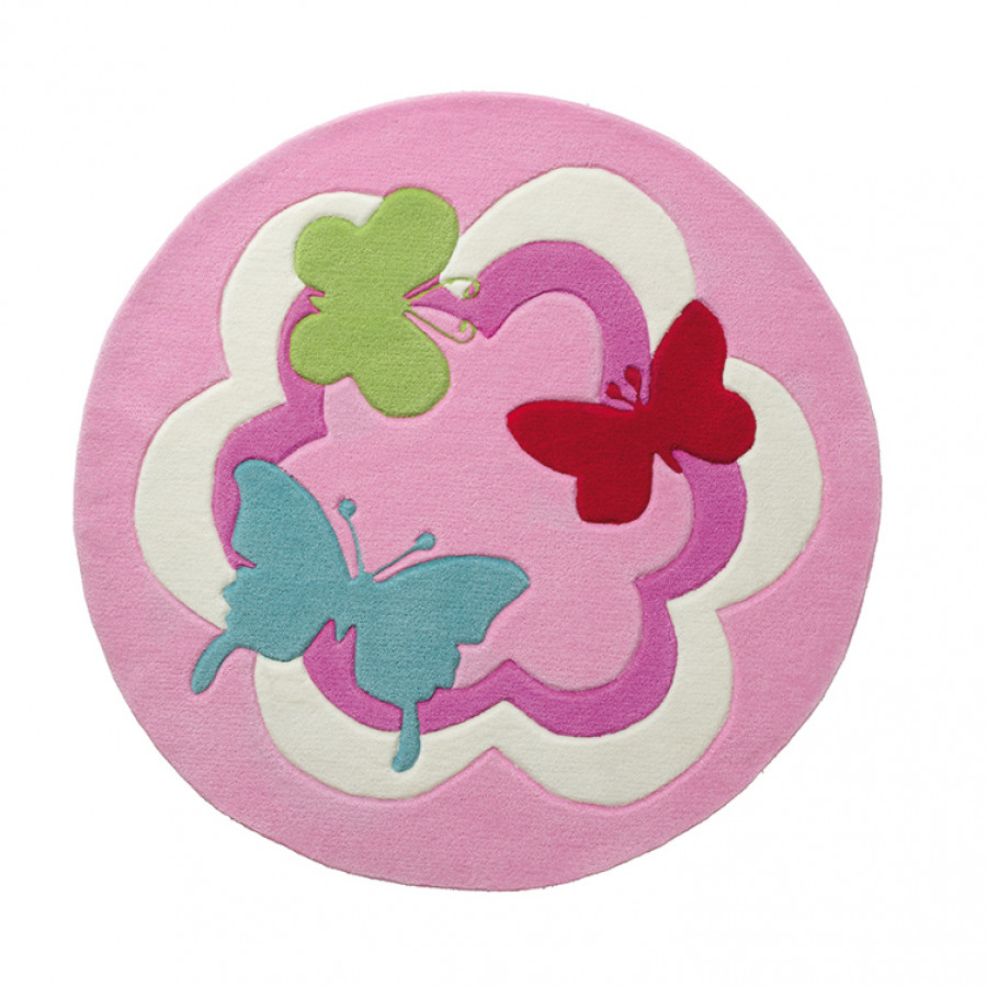 Kinderteppich Party Cm Butterfly Ø 100 5j4ARL3