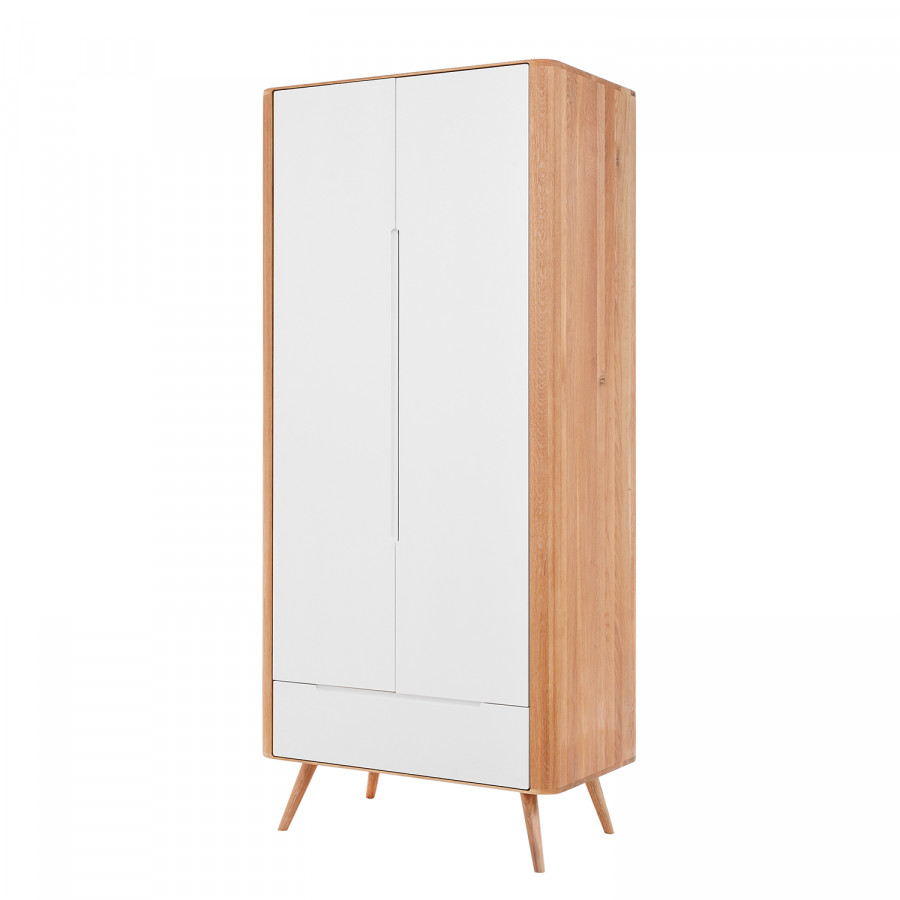 Kleiderschrank Loca I - Wildeiche teilmassiv - Fashion For Home
