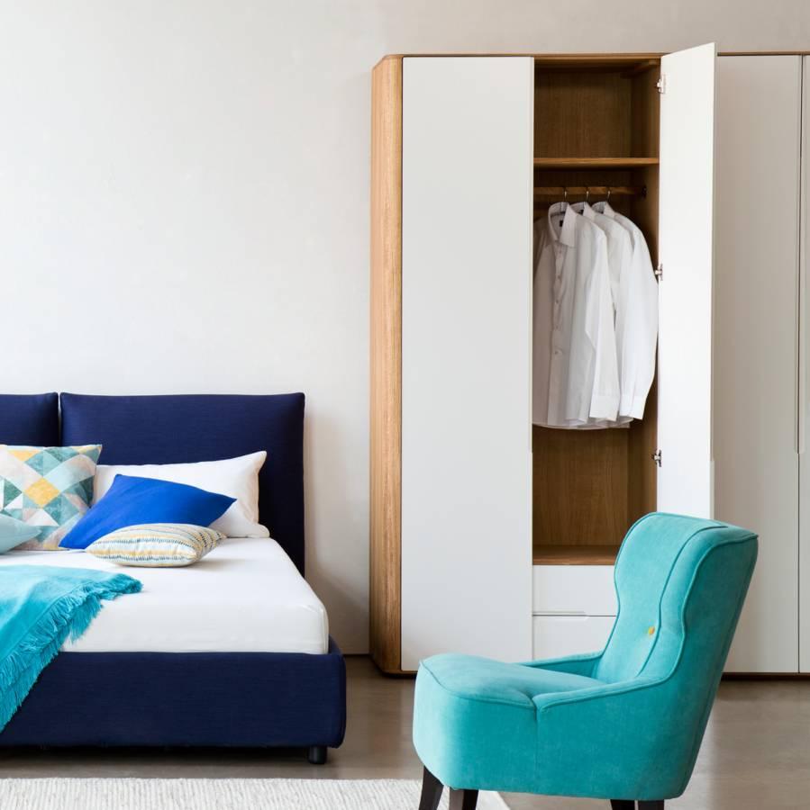 Kleiderschrank Loca II - Wildeiche teilmassiv - Fashion For Home