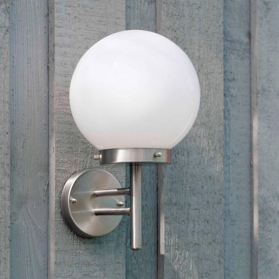 Applique Ampoule Aalborg VerreAcier I Inoxydable1 Extérieure XkiuPZ