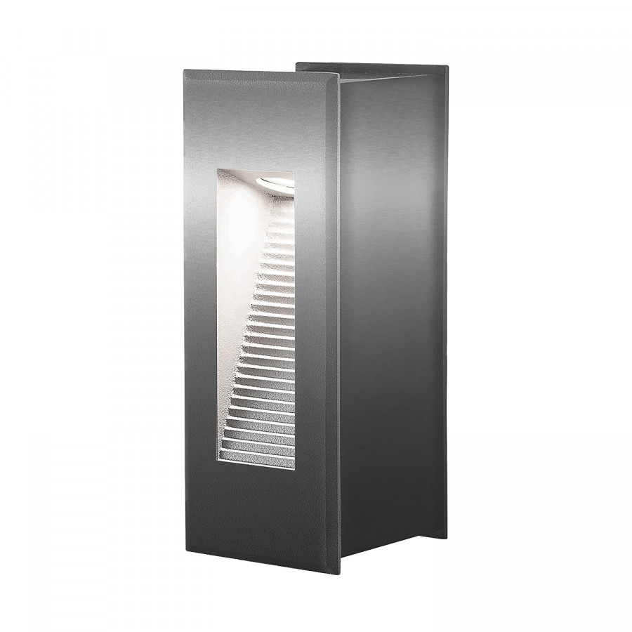 Led Außenwandleuchte Aluminium flammigSilber 1 Ii Rectangle c5jqA34RL