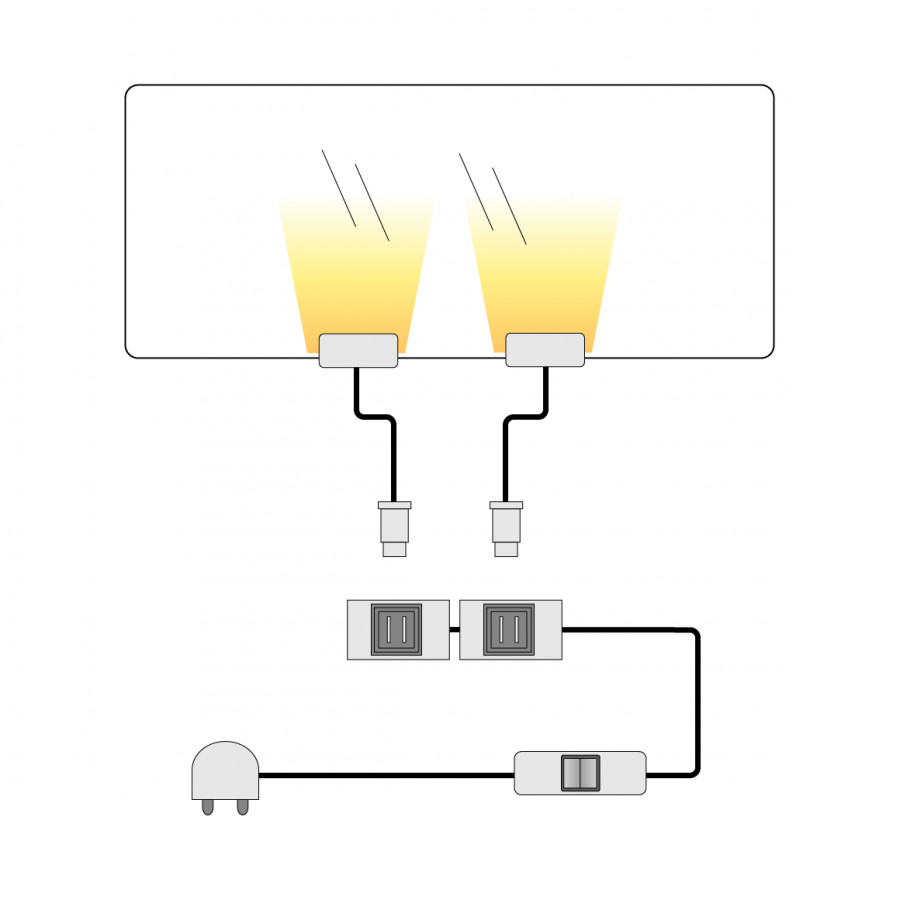 Éclairage Tablette Lot Led Verre Adansa Pour 2Blanc T1JlFKc