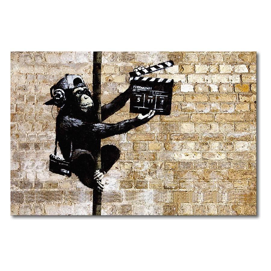 Sur Banksy Toile No Impression 13BeigeNoir RL4Ajc35q