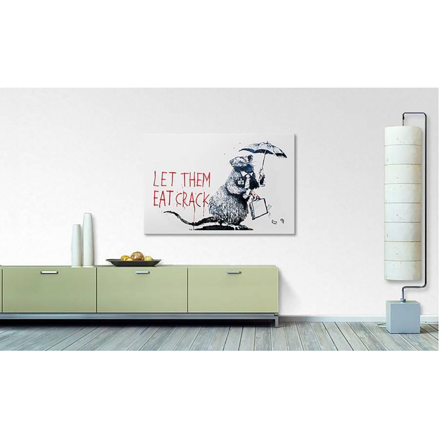 Leinwandbild LeinwandBeigeSchwarz 16 Leinwandbild No Banksy vmN0nwOy8P