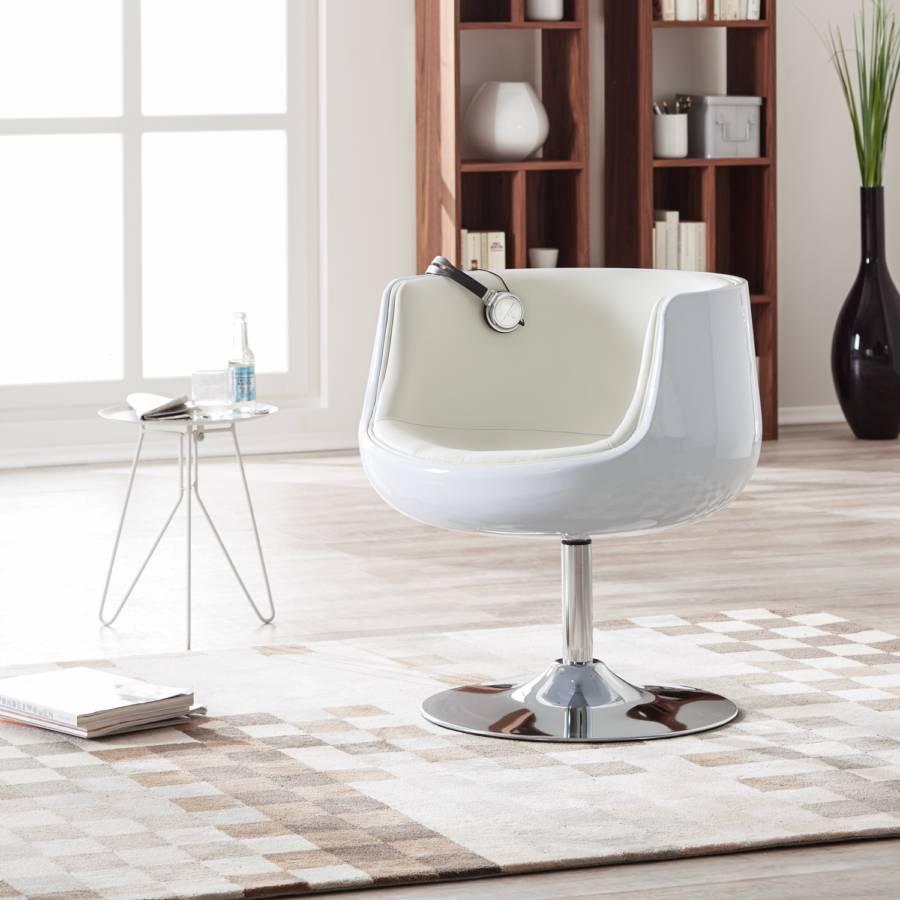 San Luis Kunstleder Loungesessel creme Weiß BxCedo