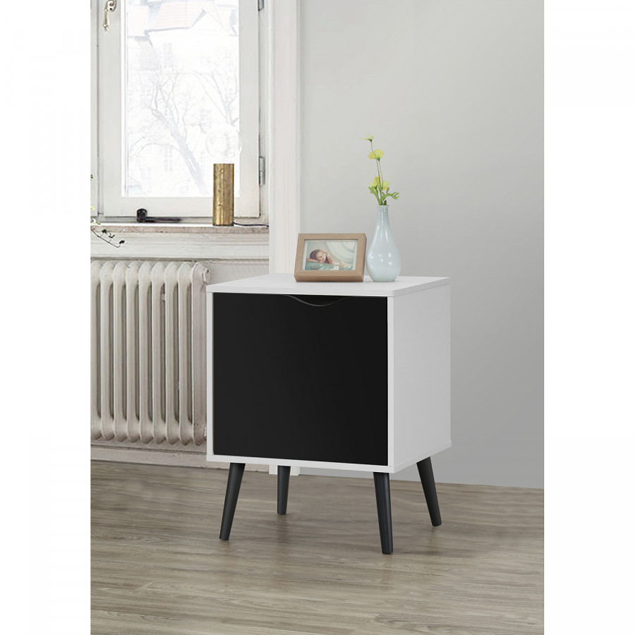 BlancNoir Chevet De Ii Table Sunndal Okw0nP8X