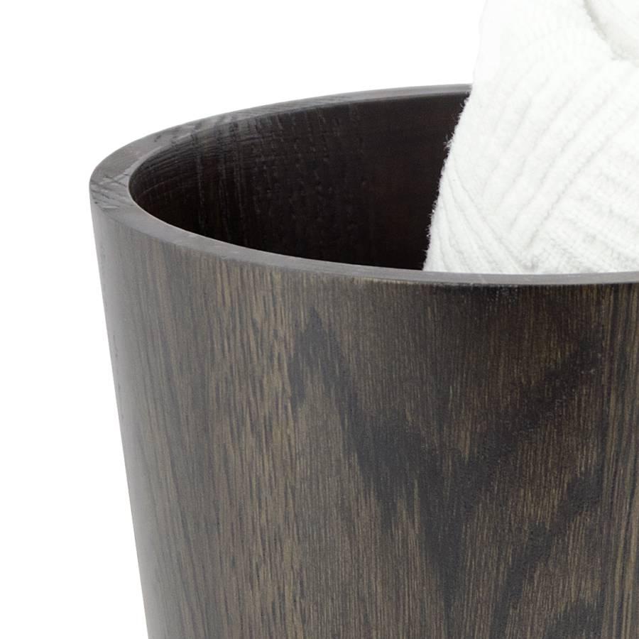 Mezza Chêne À Corbeille Massif Papier Marron Foncé nwk80PXO