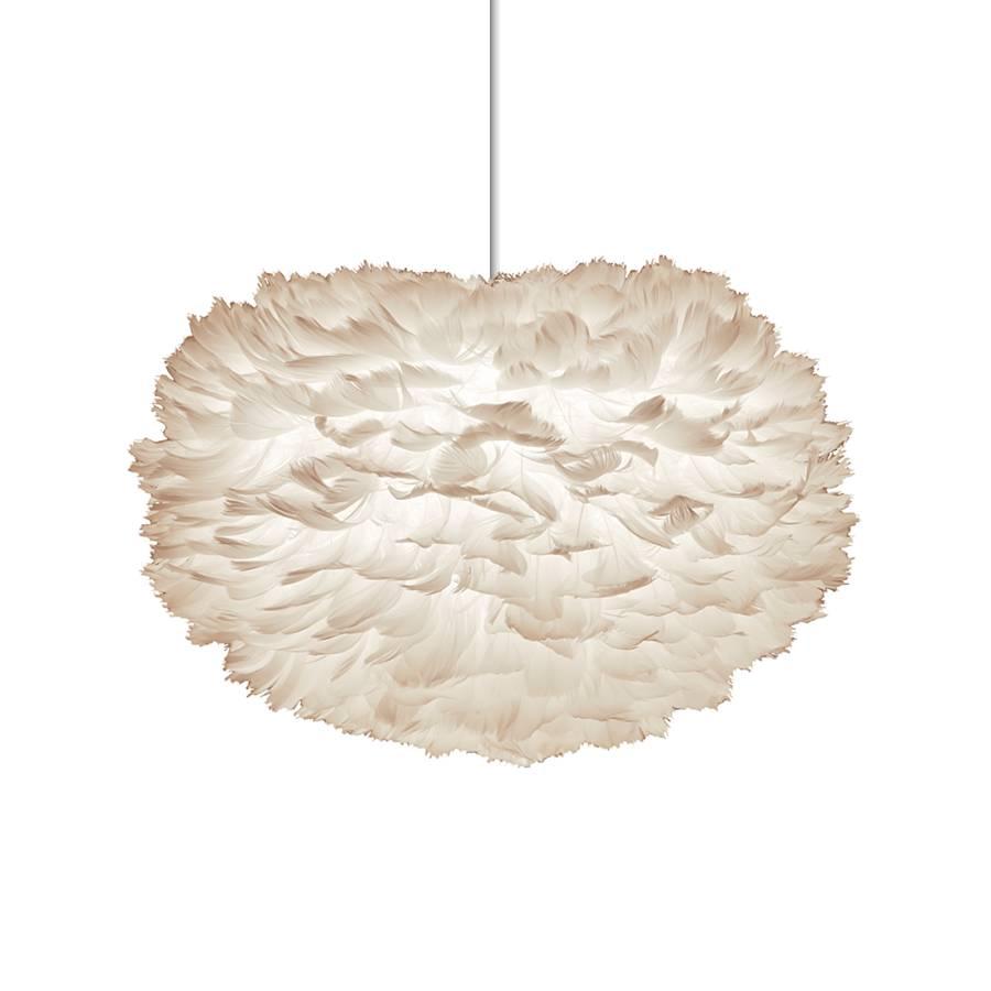 Pendelleuchte Eos mit weißen Federn | home24
