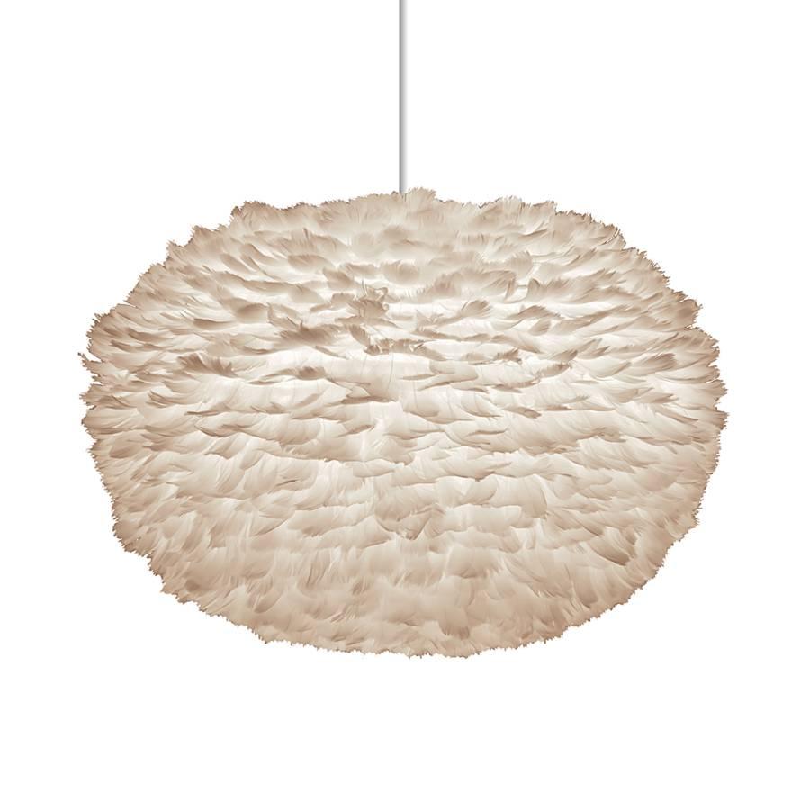 Lampenschirm Eos XL - Federn Weiß | home24