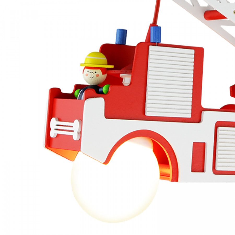 Bois Camion Ampoules 2 Pompiers Suspension De F3cT1lKJ