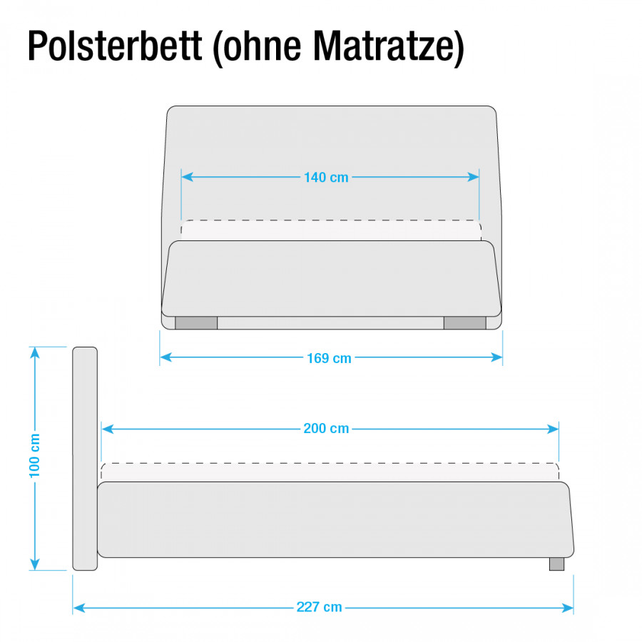 Matratze Classic Matraze Lattenrostamp; Weiß140 200cm Button Kunstleder Polsterbett X Ohne XZPkiu