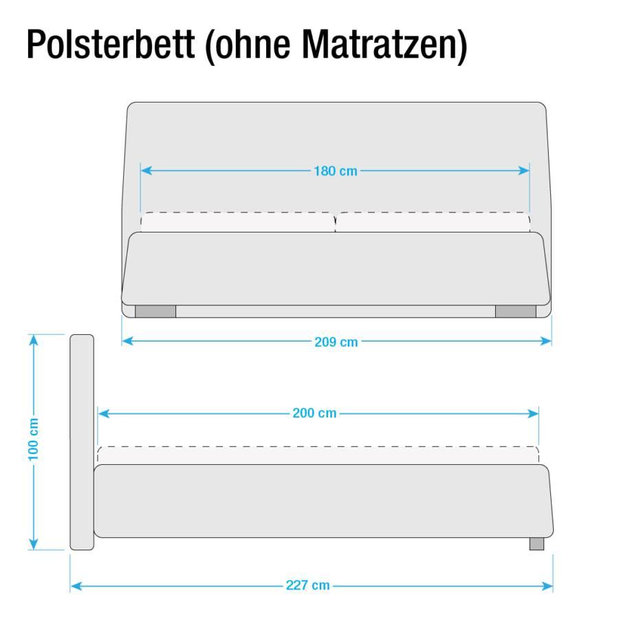 Polsterbett Lattenrostamp; Classic Button Matratze Gelb180 Matraze X Kunstleder 200cm Ohne 13TKuFlJc
