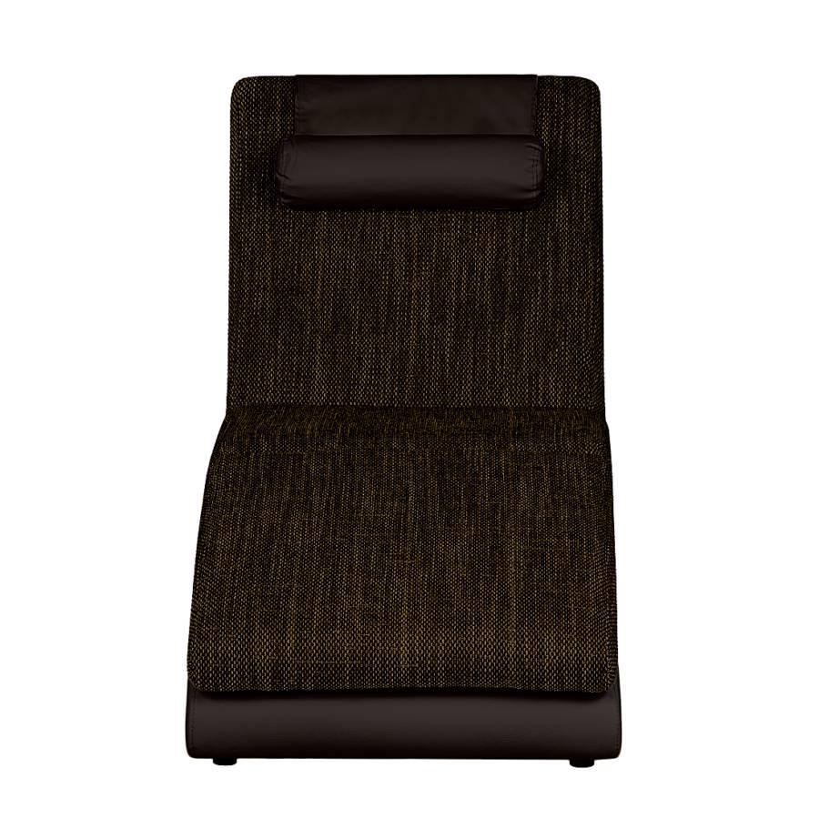 Relaxliege Kunstleder Braun Mocca Carson strukturstoff A45jRL