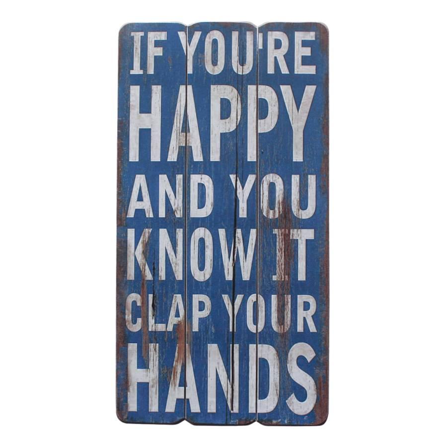 Clap Your Hands Schild Blau Hands Your Schild Clap lKcF1J