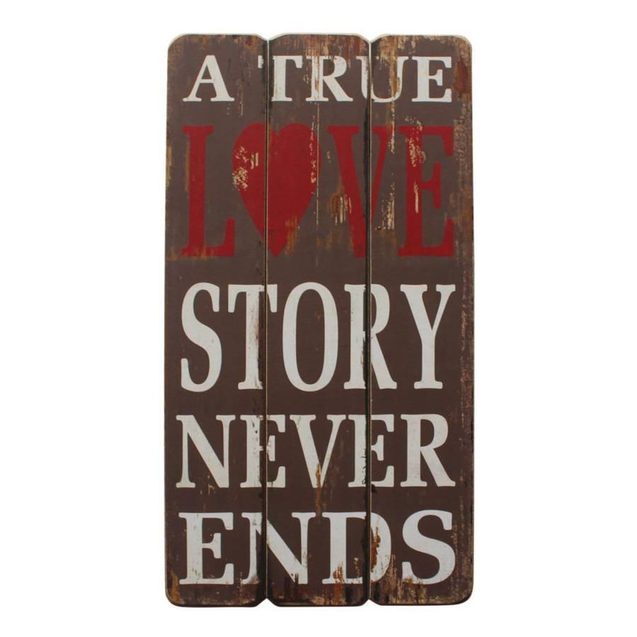 Schild True True Story Grau Story True Love Grau Love Love Schild Schild trdosCBhQx