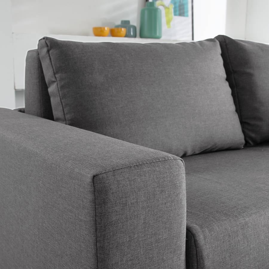 Schlafsofa Latina Webstoff Grau Home24