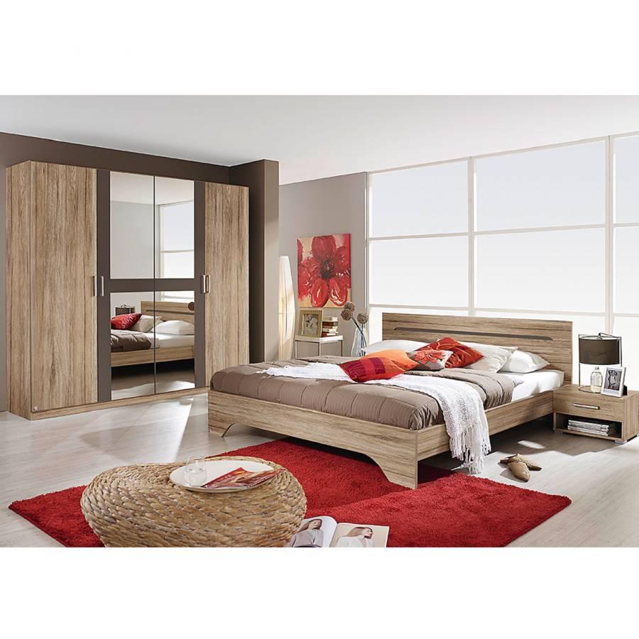 Schlafzimmerset Rubi I (4 Teilig)   Sanremo Eiche Dekor/Lavagrau    Liegefläche