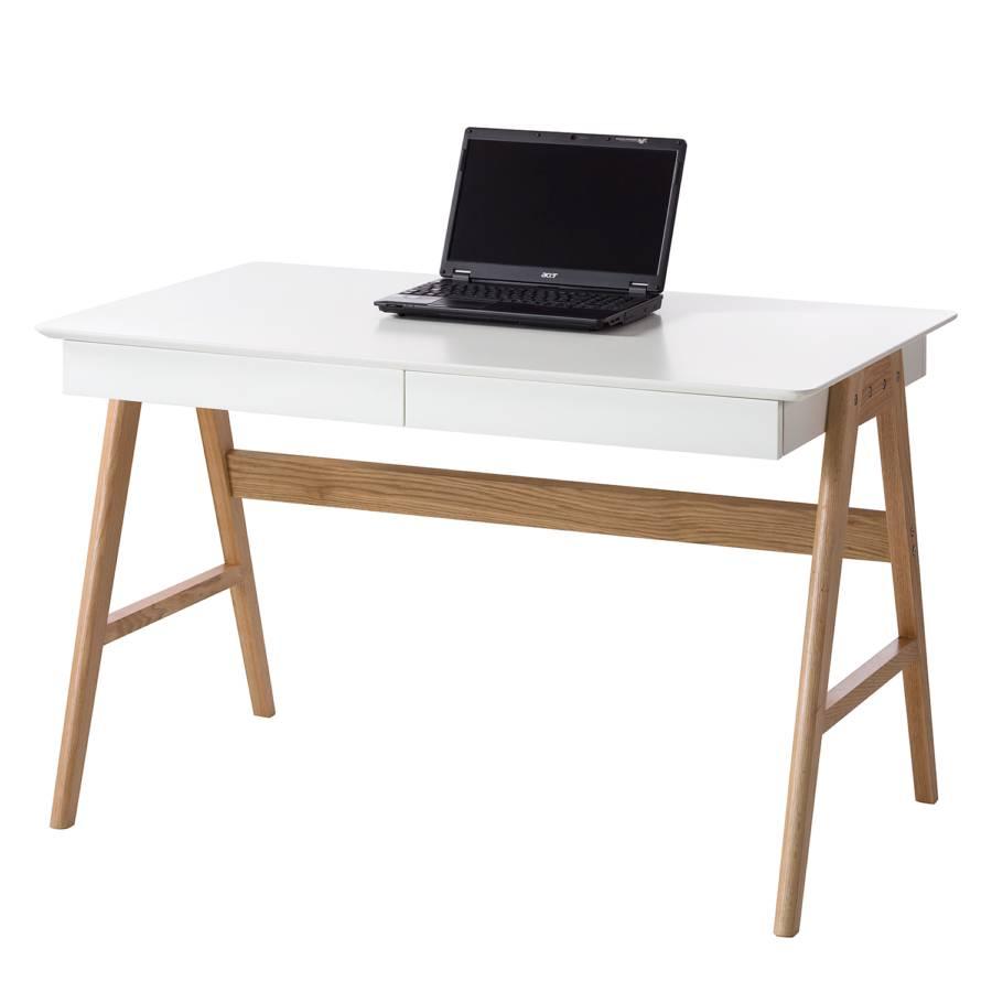 Schreibtisch Branno Eiche Teilmassiv Home24