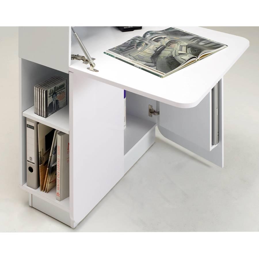 Schreibtisch Cu Hochglanz Culture Mc Weiß 53jc4LqAR