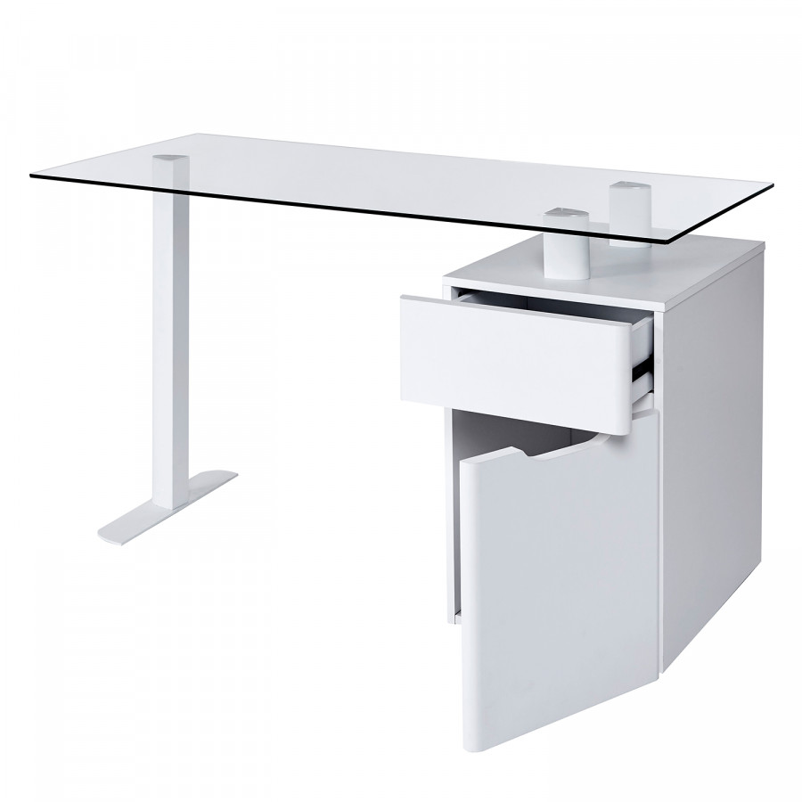 Schreibtisch Cu 13 GlasStahlMatt libre Weiß k8nN0wOPX