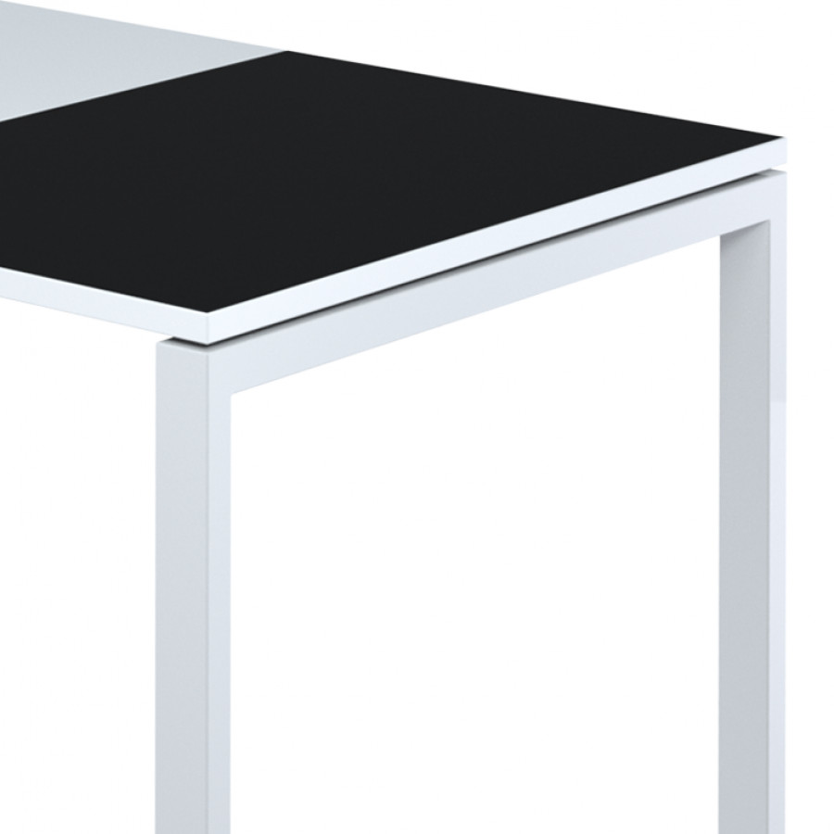Easydesk 80 Schreibtisch X 180 CmWeißSchwarz 6yYfgb7v