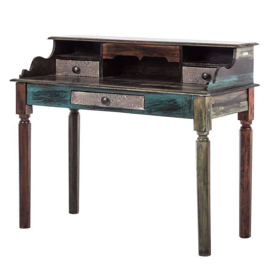 Schreibtisch Goa I Akazie Mango Teilmassiv Home24