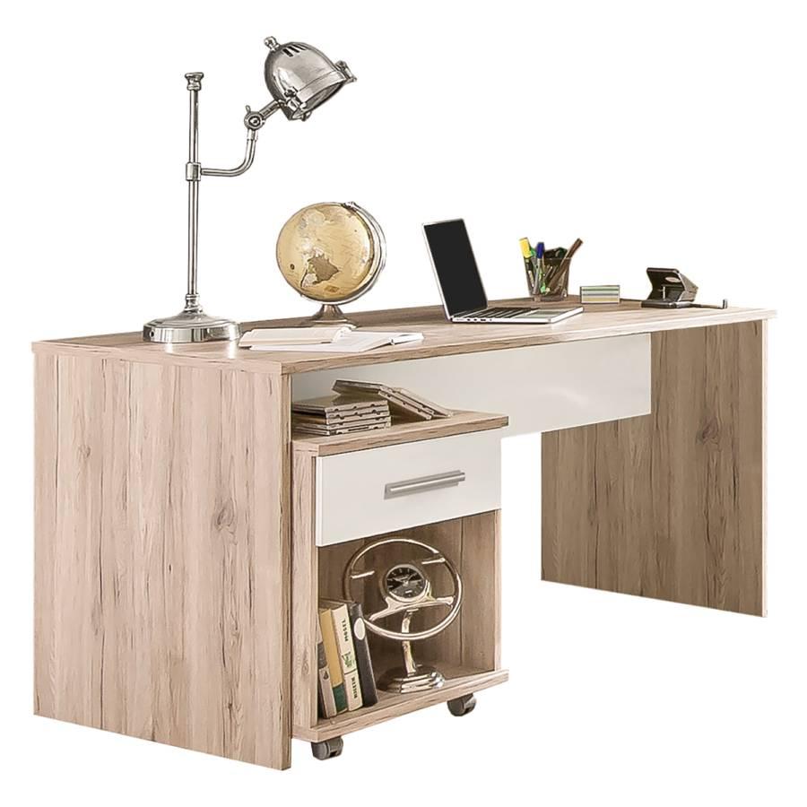 Schreibtisch Joker Inkl Rollcontainer Eiche San Remo Dekor