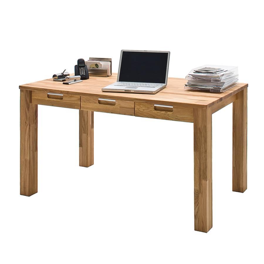 Schreibtisch Lumberjack Massivholz Kernbuche Kaufen Home24